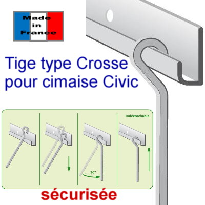 cimaises à tiges Civic