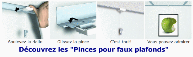 Cimaise murale artiteq et cimaises nielsen tiges for Attache faux plafond
